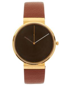 Jacob Jensen Leather Two-Piece Watch
