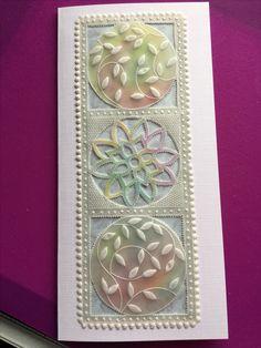 Parchment Design, Parchment Cards, Diy Crafts, Card Crafts, Paper Cards, Bookmarks, Alphabet, Card Making, Floral