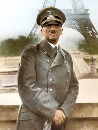 The only visit Hitler ever made to France, Paris, 1940.