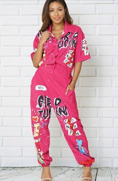 476dd1caf3 Pink Old School Rep Jumpsuit (Size 16)  fashion  clothing  shoes