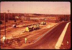 The Woodlea Hill (55th St/40 Ave hill) under construction, 1962 Red Deer, AB