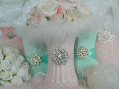 Pink and mint green 36