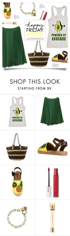 """Friday Powered By Avocado"" by mahafromkailash ❤ liked on Polyvore featuring Dolce&Gabbana, Maybelline, Freida Rothman, Louis Vuitton and Yves Saint Laurent"
