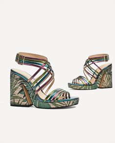ZARA - WOMAN - MULTICOLORED PLATFORM SANDALS