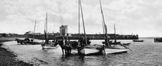 Tour Scotland Photographs: Old Photograph Fishing Boats Broughty Ferry Scotland