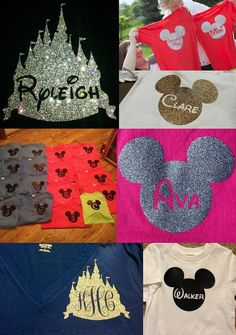 Items similar to Personalized Iron On Disney World inspired Mickey Heat Transfer Vinyl decal applique for T-shirt or bag- custom on Etsy Disney World 2015, Disney 2015, Disney World Vacation, Disney Diy, Disney Crafts, Disney Dream, Disney Style, Disney Trips, Disney Love