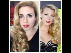 ▶ Blake Lively Retro Curls - Vintage Old Hollywood Glamour Hair Tutorial - YouTube