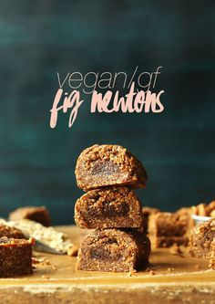 THE BEST Fig Newtons (No Bake!)! 8 ingredients, easy, SO delicious #vegan #glutenfree #cookies #fignewtons #recipe #minimalistbaker