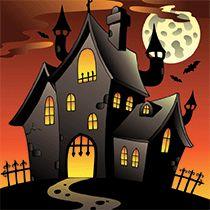 Coloriage Coloriage maisons hantées                                                                                                                                                                                 Plus