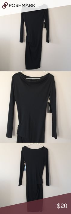 Zara Basic dress NWT! Gorgeous hug your curve, beautiful neckline, with 86% viscose 12% polyester 2% elastanno. Nice for day or sassy for night! Zara Dresses High Low