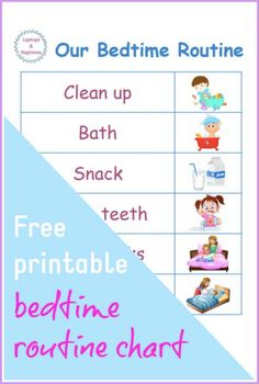 If your children have tantrums at bedtime, it's time to work on your bedtime routine. toddlers and preschoolers respond really well to routine and Bedtime Routine Printable, Bedtime Chart, Bedtime Routine Chart, Baby Sleep Routine, Toddler Routine, Bed Time Routine, Morning Routines, Daily Routines, Night Routine