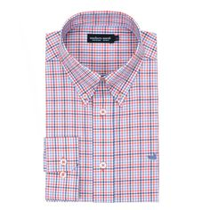 Southern Marsh Dunlavy Check Dress Shirt in Navy and Bisque