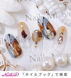 旅行/海/ライブ/オフィス/ハンド - Marvelous★Ryokoのネイルデザイン[No.4025914]|ネイルブック Mani Pedi, Manicure, Hair Decorations, Clear Nails, Marble Nails, Press On Nails, Nail Inspo, Nails Inspiration, Summer Nails