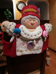 Forro silla abuela navideña