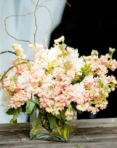 peach stock will be a gorgeous creamy neutral to mix with the vibrant coral tones for centerpieces.