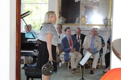 Margize Howell greeting friends and guests to Music at Millford (September 2014).