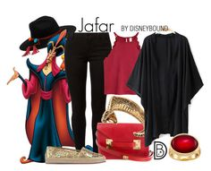 Jafar by leslieakay on Polyvore featuring polyvore, fashion, style, Dorothy Perkins, Burberry, Sophie Hulme, Yves Saint Laurent, Karen Kane, Sensi Studio, clothing, disney, disneybound and disneycharacter