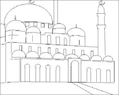 Muslim coloriage ✨mosquee