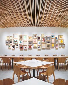 At the @sfmoma's restaurant, In Situ, Aidlin Darling Design chose @ronanerwanbouroullec's chairs for the dining area, also the site of @tuckernichols's gouaches Specials. : Matthew Millman. #architecture #interior #design #interiordesign #restaurant #museum #sfmoma #art... - Interior Design Ideas, Interior Decor and Designs, Home Design Inspiration, Room Design Ideas, Interior Decorating, Furniture And Accessories