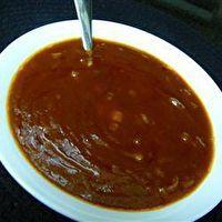 Wendy's BBQ Sauce.  I used Splenda Brown Sugar and added 1 TBSP Apple Cider Vinegar.