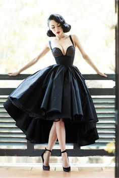 Little Black Dress Vintage Homecoming Dresses High Low Short Prom Dress Party Dress · Happybridal · Online Store Powered by Storenvy Dresses Short, Cheap Prom Dresses, Prom Party Dresses, Sexy Dresses, Evening Dresses, Dress Party, Pageant Gowns, 1950s Dresses, African Party Dresses