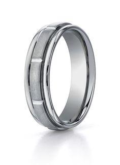 Men's  Wedding Band TIRECF76452 - Men's Wedding Band TIRECF76452 General Information: Metal: TitaniumComfortfit: YesWidth: 6 mmFinish: Spin Satin.