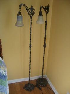 $275 - 1920\'s Vintage Floor Lamp love this look | Living room ...