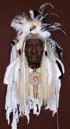 Chief White Horse II Spirit Mask by Cindy Jo Popejoy