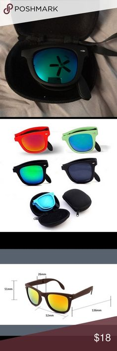 🤡Foldable Sunglasses w/Case Product Name: Folding Sunglasses   Product Weight: 60 grams Accessories Sunglasses