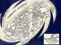 "Map of the Star Wars Galaxy, from the inside cover of the ""Vector Prime"" book."