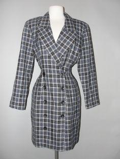Vintage Clothing Stores, Button Dress, Vintage Outfits, Wrap Dress, Plaid, Awesome, Clothes, Dresses, Fashion