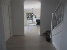 An elegant matte flooring finish. More grey. Lime wash: Smoky Grey Timber: Cypress Pine Finish: Bona Traffic [matt]