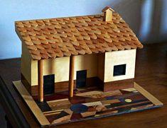 Casa de Palito de Picolé -. /   Popsicle Stick House -