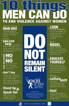 10 Things Men Can do to End Violence Against Women