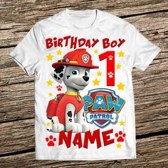 e2c4530b8d0 19 Best Paw Patrol Birthday Shirts images in 2017 | Paw patrol party ...