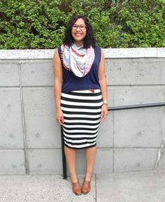 Fashion For Giants: Stripes and Scarves