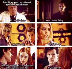 The saddest part of Doctor Who. :( The Doctor was a dad once...before the Time War... :'(