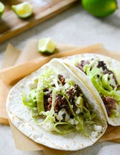 Pull the meat off grilled ribs, and use this as a filling for tangy lime tacos the next day.