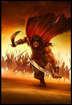 Conan the Avenger 7, Daryl Mandryk on ArtStation at https://www.artstation.com/artwork/conan-the-avenger-7
