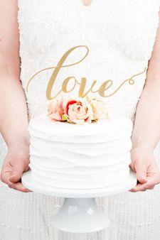 handmade 'love' cake topper
