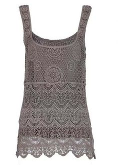 Lace Tank- light brown