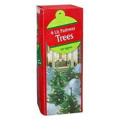 Lighted Pathway Trees, 4-Pack at Big Lots.