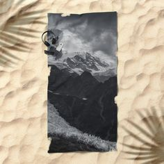 Mont Blanc collection | Glacier Beach Towel by Ines Leonardo | Society6