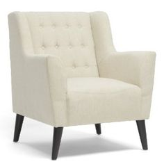 Amazon.com - Baxton Studio Berwick Linen Arm Chair, Beige. Simple.