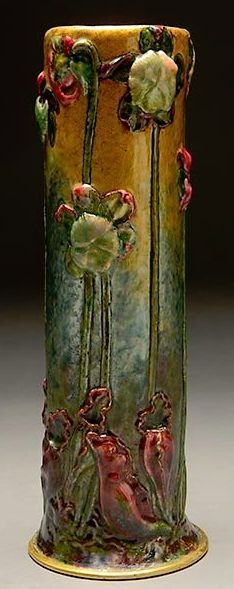 Tiffany Glass and Decorating Company, New York, vase, enamel on copper