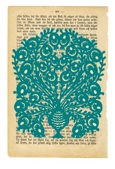 From #carambatack's #etsy shop.  A #DIYable #peacock on old book page.