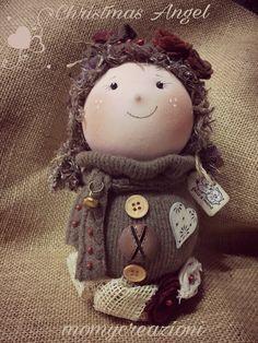 bambolina angelo decorazione 26cm