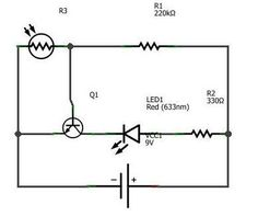 Light Dependent Resistor and Its Applications | Ldr circuit, Circuit ...