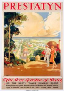 Prestatyn, The Rose Garden of Wales, LMS Travel Poster
