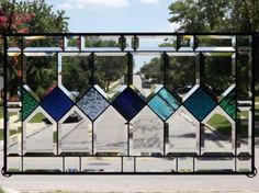 exact size JUST-A-DASH-Beveled-Stained-Glass-Window-Panel-Signed-Numbered